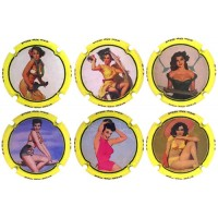 PSPA136032 a PSPA136126 - Pin Up Girl 2017 (6 Placas)